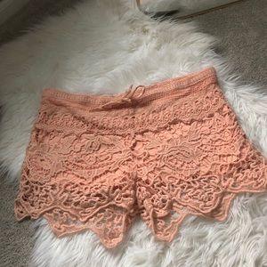 LOST crotchet shorts